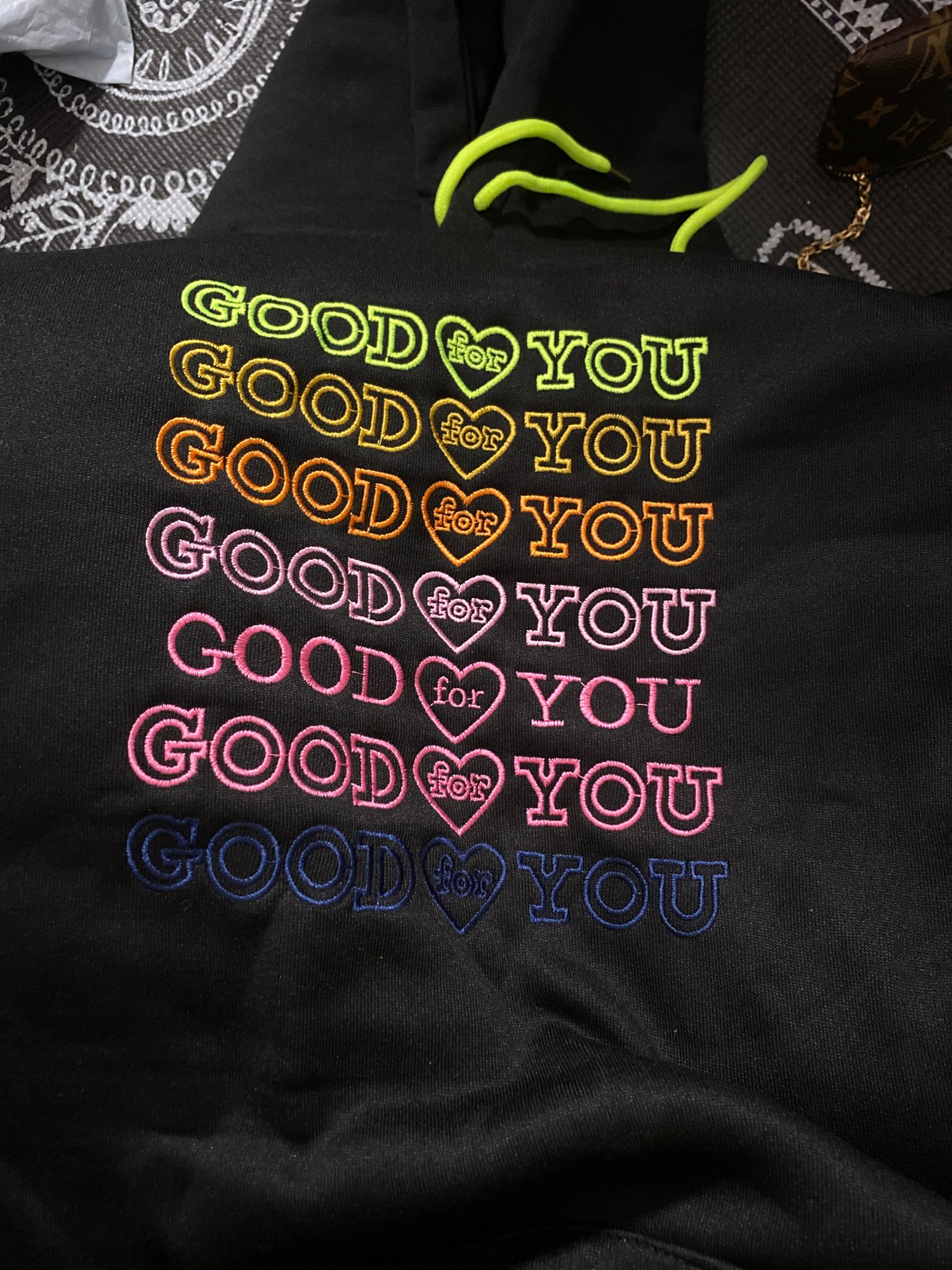 E-girl Soft girl oversized Harajuku hoodie with Good for You embroidery photo review