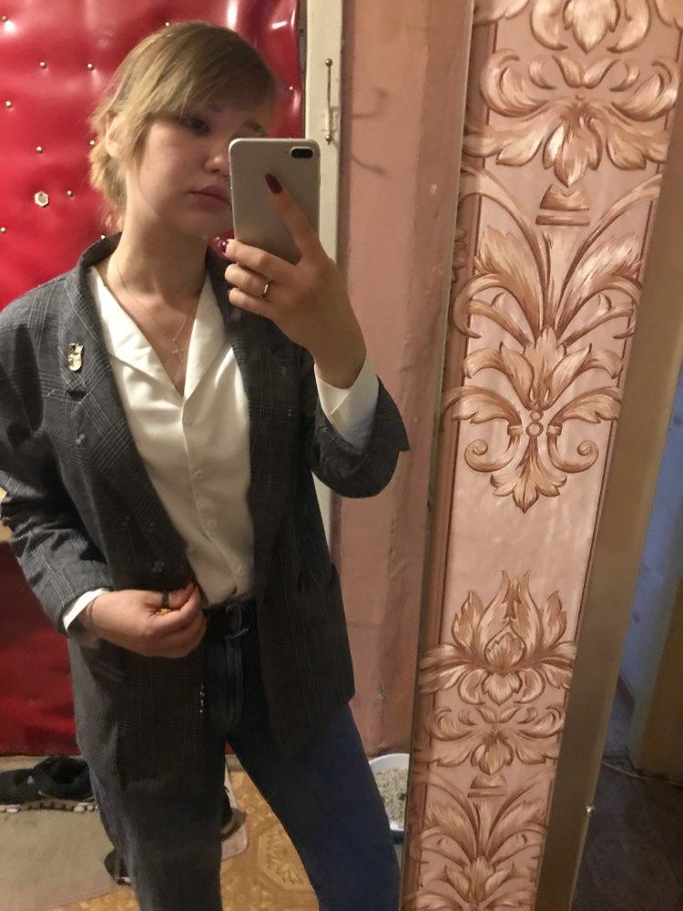 CBAFU autumn spring jacket women suit coats plaid outwear casual turn down collar office wear work runway jackets blazer N785 reviews №1 182615