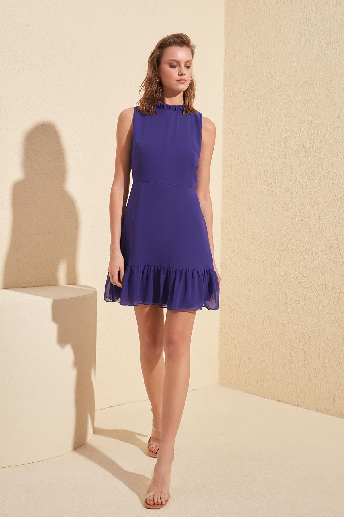 Trendyol Frilly Dress TWOSS20EL0237