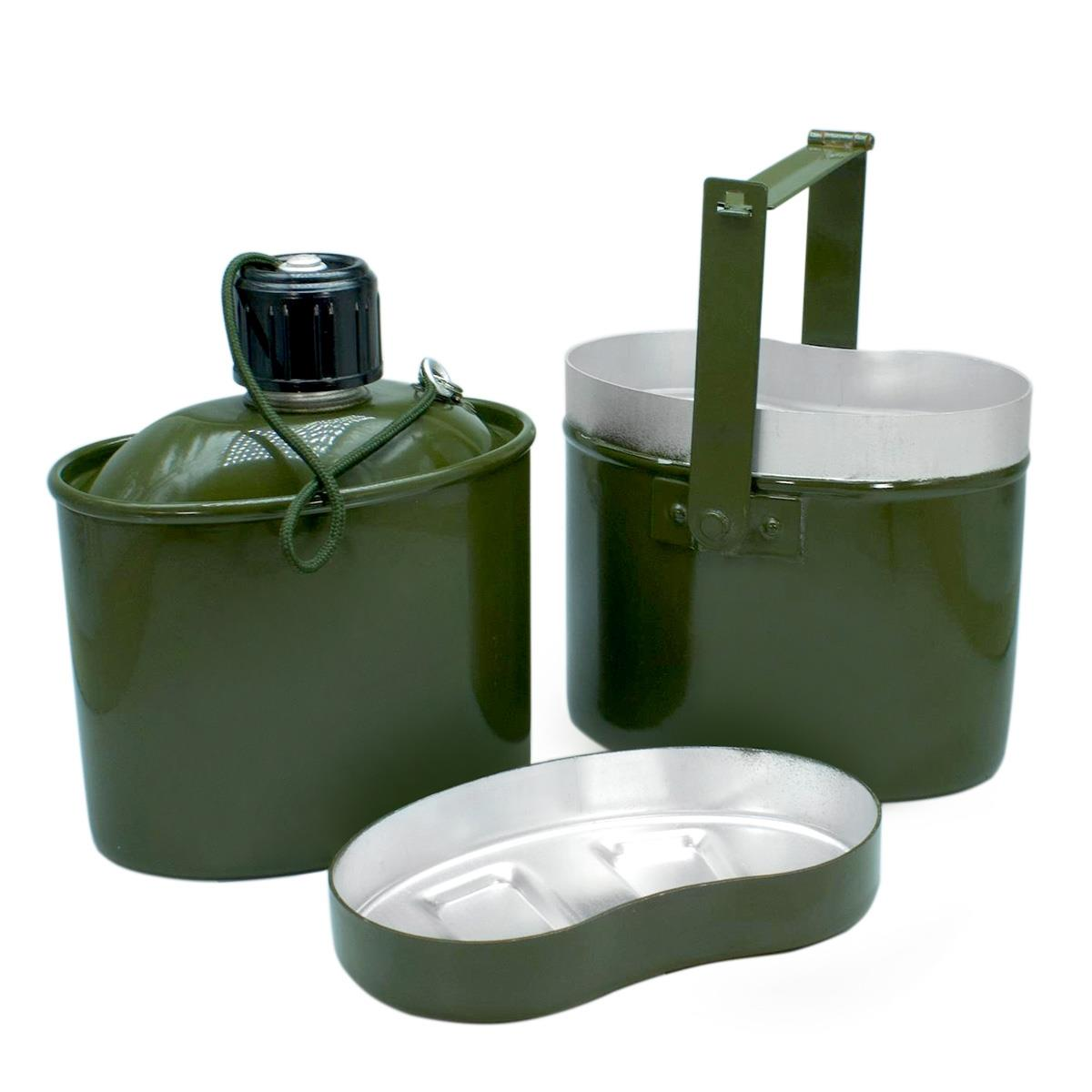 Cookware Set Army Bowler + Flask (1000 ML/900 Ml) HS-NP 020031-00 Helios