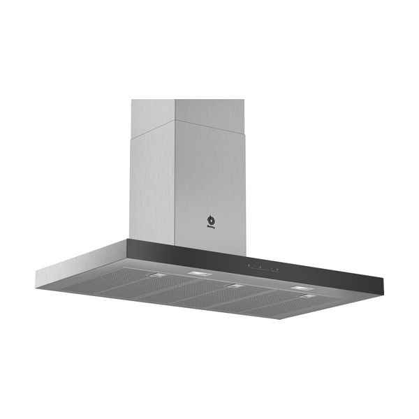 Conventional Hood Balay 3BC097GNC 90 Cm 710 M3/h 65 DB Touch Control Stainless Steel Black