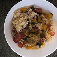 南瓜腊肠饭(铸铁锅版)的做法图解5