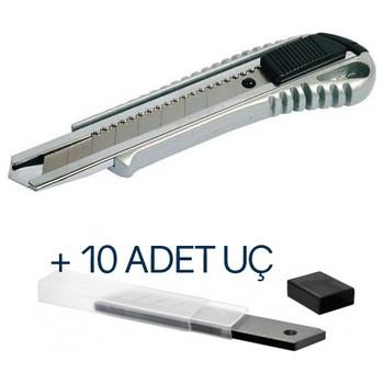 Metalowy nóż zakrzywiony nóż introligatorski + 10 części wymienne do komputera tanie i dobre opinie