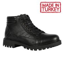 Made in Turkey | Men Lace Up Boots Leather Spring Autumn Vintage Style Ankle