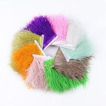 Feathers-Fringe Trim Crafts Decor Plume Wedding-Dress Sewing Colorful Wholesale Dyed