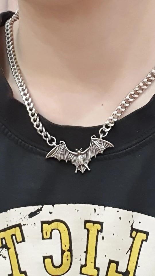 Gothic Egirl Eboy Bat Chain Necklace photo review