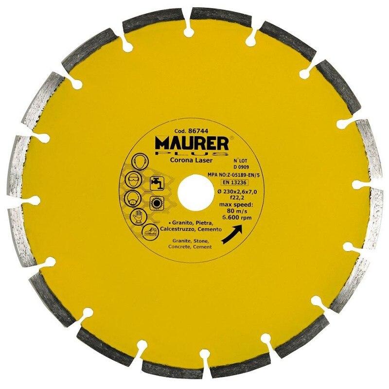 Diamond Maurer Segmented Laser Concrete, Stone, Granite 230mm.