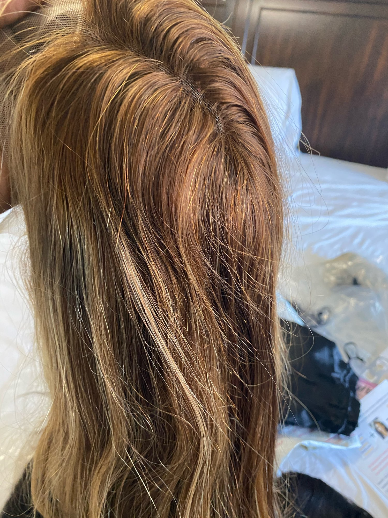 30 Inch Highlight Wig Human Hair Bone Straight Honey Blonde Lace Wigs For Women Brazilian Ombre Remy 13x1 T Part Hd Lace Wig photo review