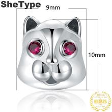 1.0x0.9cm Love Pet 1.7g Charm Silver 925 Sterling Silver Gift For Boys Charms Jewelry DIY 2019