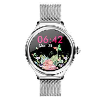 RUNDOING M4 women smart watch full touch round screen multiple sport modes with female function smartwatch for women watches 8