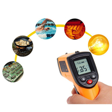 Precision IR Laser Industrial Infrared Digital Thermometer Temperature Sensor Thermometer Gun HD Display Two Measurement Modes xintest handheld digital industrial infrared thermometer infrared ir thermometer laser temperature gun tester 50 650c ht 817