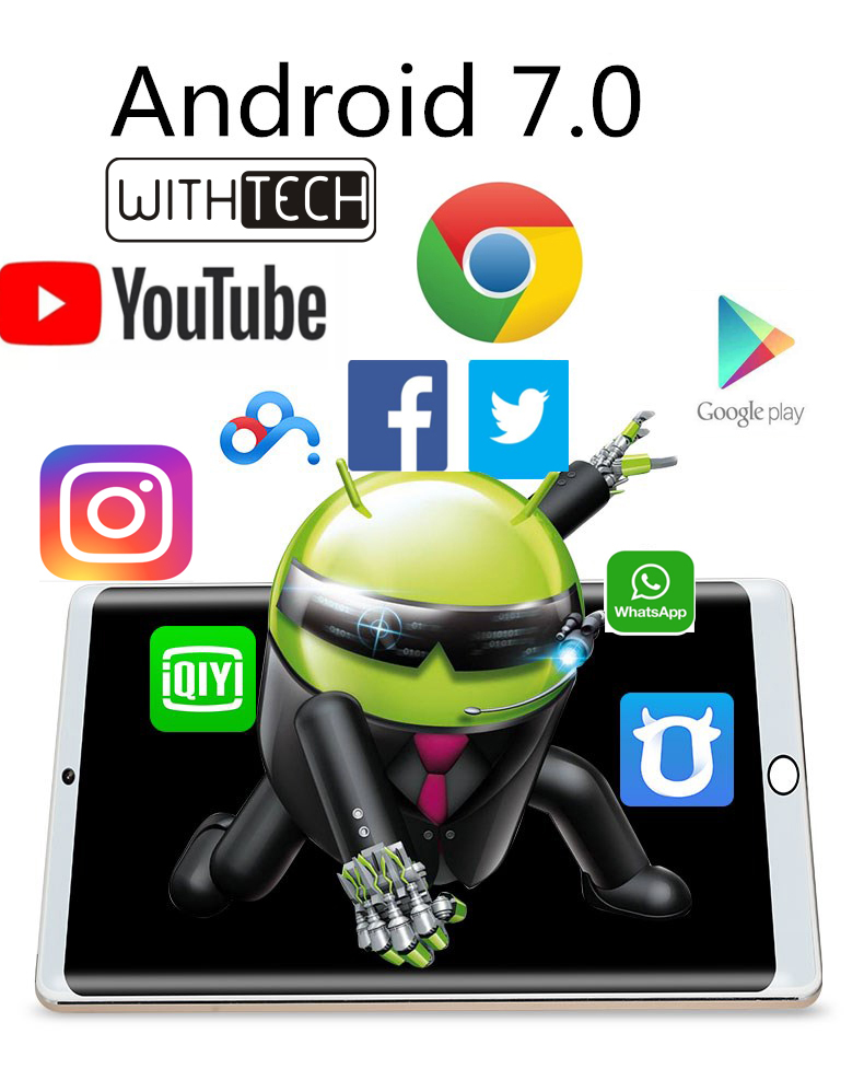 Tablet 10,1 Inch WITHTECH Pad-3G, Double Glass, Octa Core, 4 GB RAM + 32 ANDROID 7