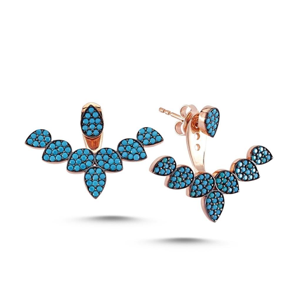 925 argent Sterling mode boucle d'oreille bijoux Zircon pierre Design à la mode élégant femme boucles d'oreilles turquie argent