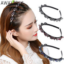 Rhinestone Headband Clips Hairpin Hoop Hair-Accessories Alice Claws Double-Bangs Women