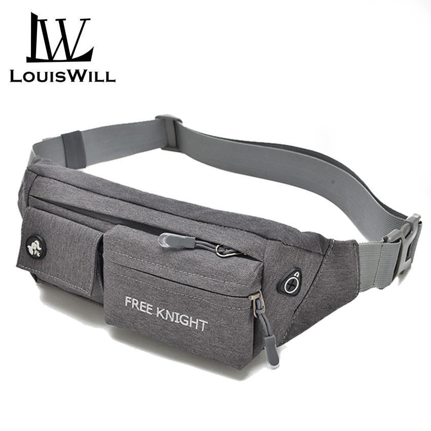 LouisWill Sport Waist Pouch Bag Men Cross Body Bag Chest Bag Woman Nylon Money& Phone Waist Belt Bag Water Resistant Adjustable