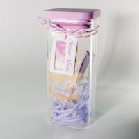 Souvenir, gift, decoration for home Letter in a Bottle Square L Glass, plug, LED Decorative bottle Decor