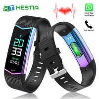 Smart Band Fitness Tracker Cardio Armband IP67 Wasserdicht Herz Rate Überwachung Anruf Erinnerung Schrittzähler Sport Fitness Armband