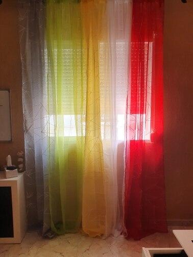 Cortinas de tul de gasa transparente de 1 pieza de NAPEARL, decoración para el hogar, cortinas para dormitorio, diseño moderno d