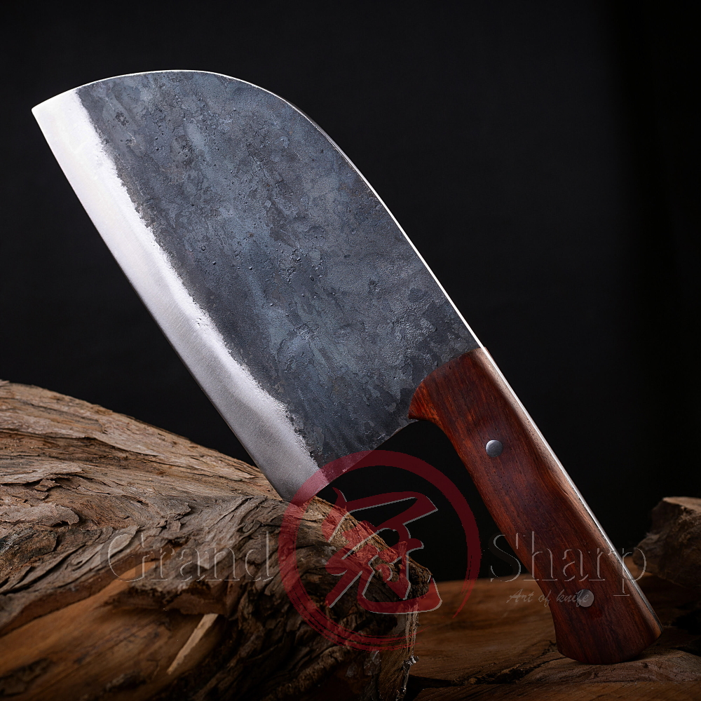 Image 5 - Handmade Chinese Cleaver ECO Friendly Kitchen Knives Slicing  Chopping Chef Knife Manganese Hand Forged Steel Home Cooking  ToolsKitchen Knives