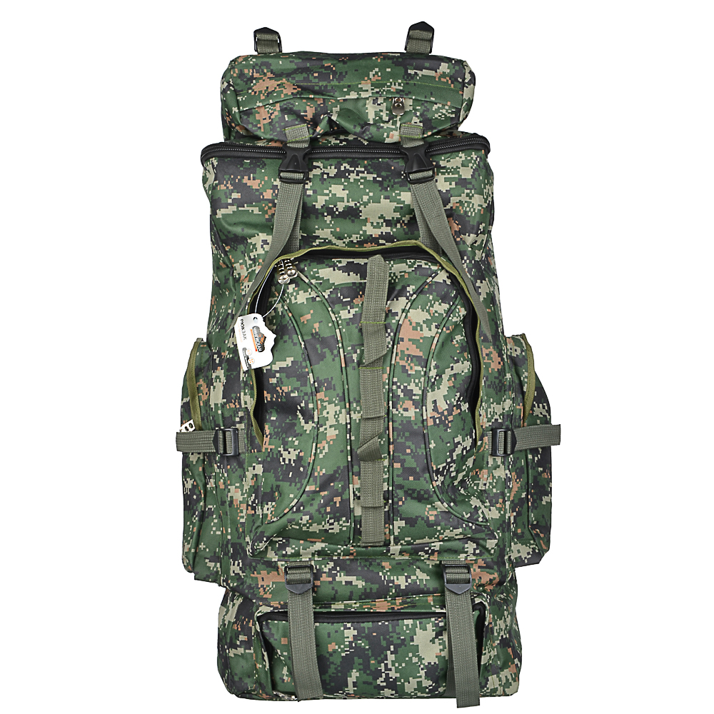 BACKPACK TOURIST OFFICE FOR TENTS, 65 LITERS, 80X35X18 CM, POLYESTER, COMFORTABLE, ROOM, FOR HIKES