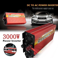 3000W DC 12v to AC 220v, DC 24v to AC 220v Solar System Over Heat Protection Home Car Dual use Inverter