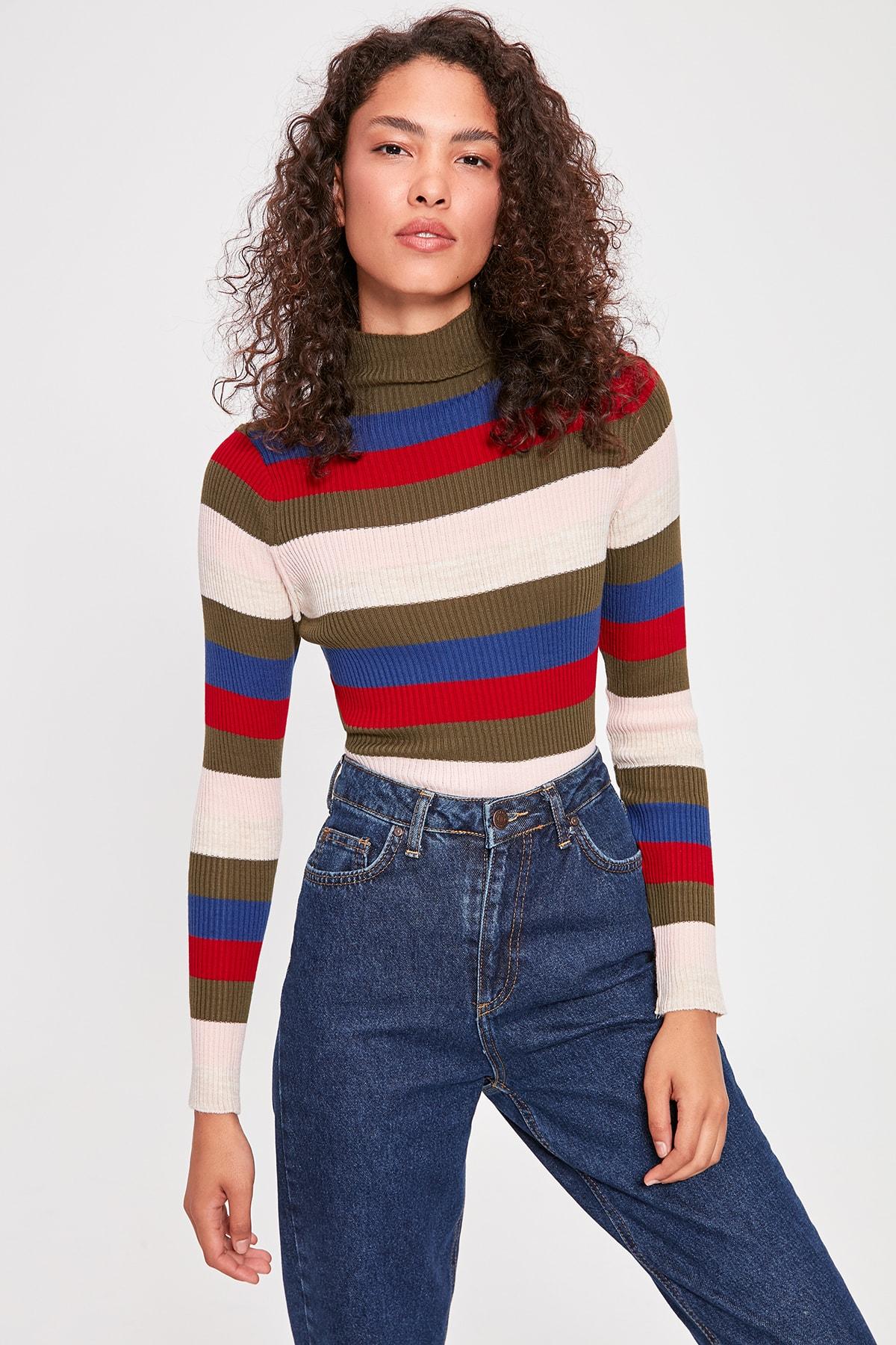 Trendyol Khaki Sweater Sweater TWOAW20KZ0630