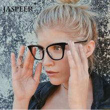 JASPEER – lunettes yeux de chat Sexy pour femmes, monture classique, mode transparente, bloquant la lumière bleue, lunettes optiques