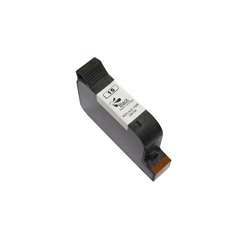 Compatible <font><b>HP</b></font> 15 BLACK REMANUFACTURED <font><b>INK</b></font> <font><b>CARTRIDGE</b></font> C6615DE <font><b>40</b></font> ml image