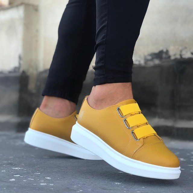 Boa BA0026 Yellow White Casual Men's Shoes