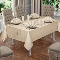Fabric Cotton Linen Tablecloth Set 12 Person 160x220cm Anti Fading Table Cloth Rectangle Indoor Outdoor Dining Table Cover