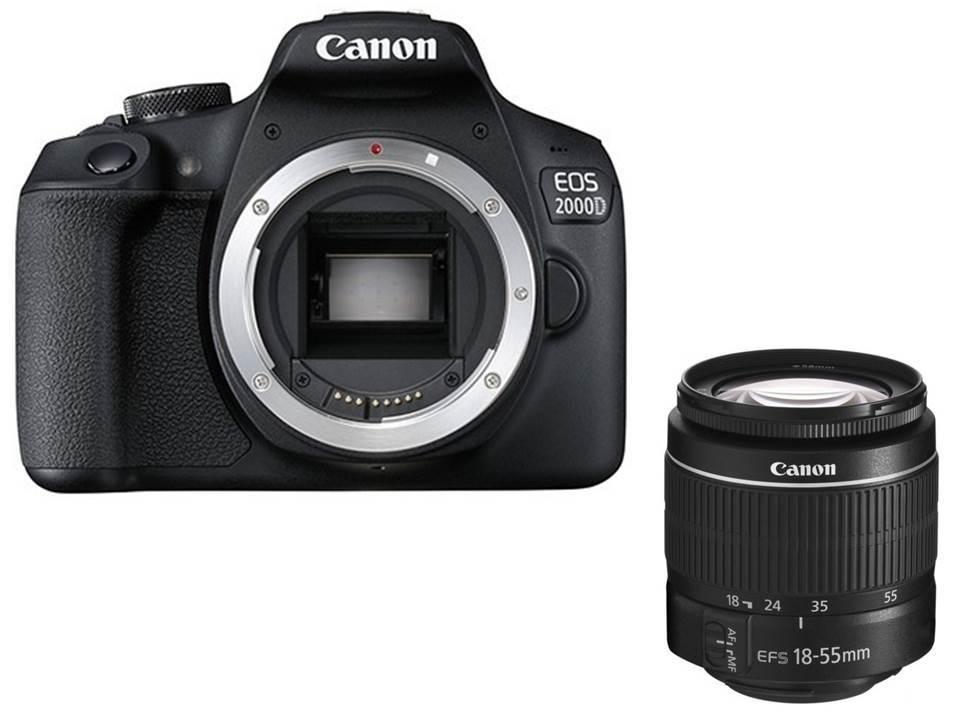 Canon 2000D Rebel T7 DSLR Camera Body & 18 55mm Lens Kit|DSLR Cameras| - AliExpress