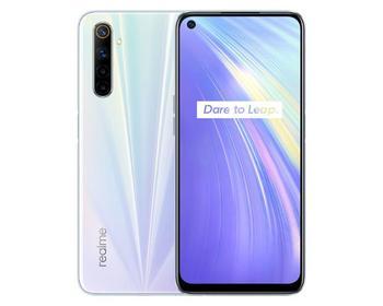 Купить Смартфон Realme 6 (4 + 128 ГБ) белый смартфон Мобильная телефония