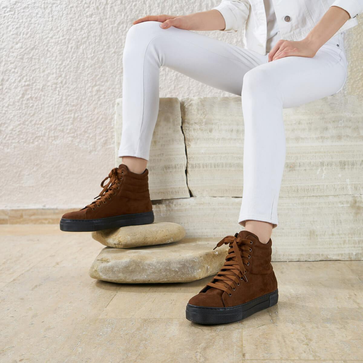 FLO HANDEL K17Z SUEDE Tan Women 'S Boots BUTIGO