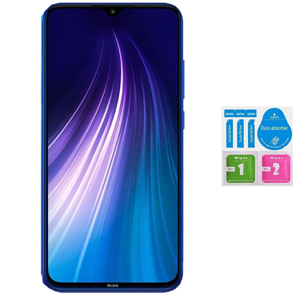 Protector Screen Tempered Glass For For XIAOMI Note Redmi 8 (Generico, Not Full SEE INFO) KIT