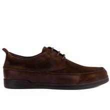 Sail Lakers Genuine Leather Men Casual Daily Shoes Black Brown Brand New
