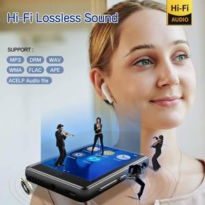 """Image 5 - Lecteur MP3 Bluetooth 2.8 """"plein écran tactile Portable 32GB intégré grande mémoire HiFi lecteur de musique FM Radio podomètre vidéo Playe"""
