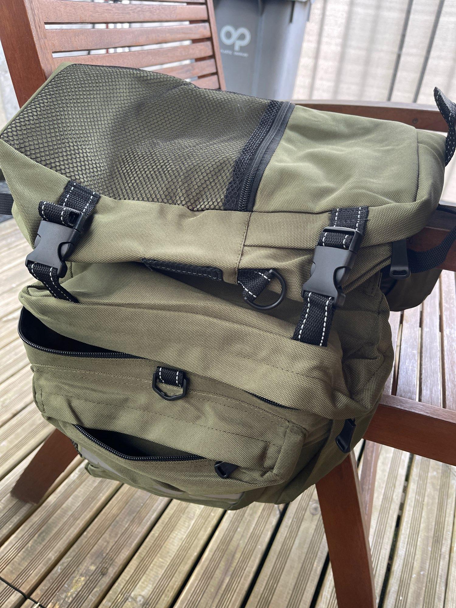 Multifunction 37L Mountain Bike Rack Bag photo review