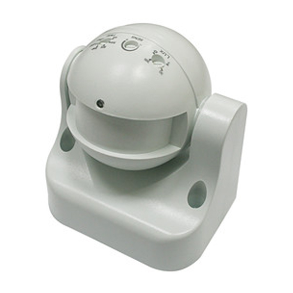 By Motion detector microwave Electro DH, with headstock steerable, passive technology, 180 °, works with 3 Thread
