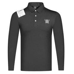 새로운 긴 소매 스포츠 골프 t-셔츠 3 색 ANEW 남자 골프 옷 배드민턴 야구 테니스 레저 야외 스포츠 셔츠