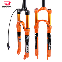MTB Bicycle Fork Magnesium Alloy Air Suspension 26 27.5 29er Inch 32 HL RL100mm Bike Fork Lockout For Bicycle Accessories bolany