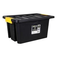 Caixa de armazenamento com tampa brico 40 l preto|Bolsas de armazenamento dobráveis|Casa e Jardim -
