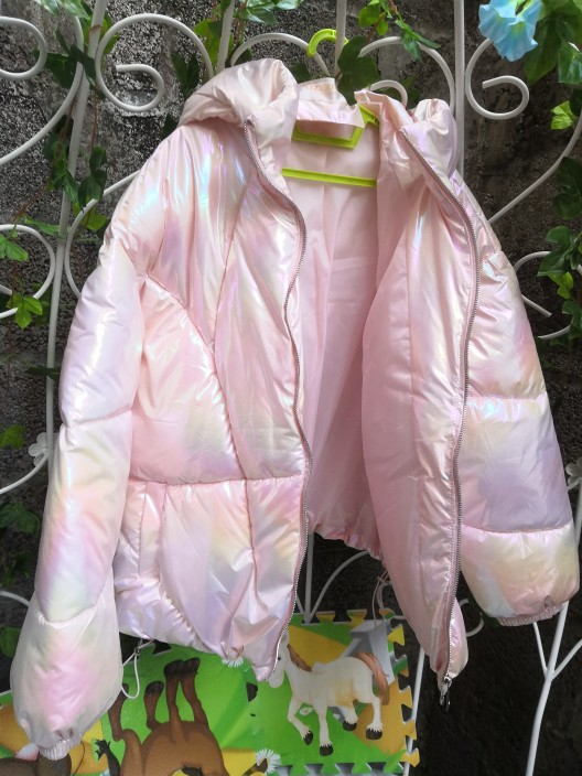 2020 Harajuku Colorful Streetwear Glossy Winter Oversize Jacket Women Thick Padded Outwear Shiny Drawstring Jacket Cotton Parkas