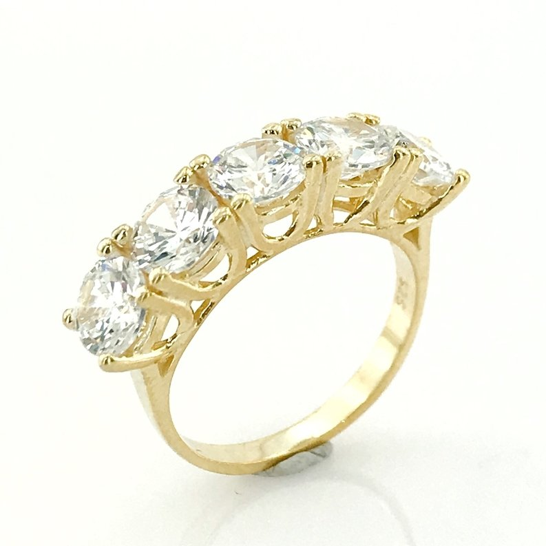 Gold Model Gold Plated Silver Dibs Ring()