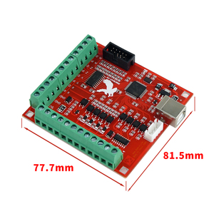Image 3 - 1pcs CNC USB MACH3 100Khz Breakout Board 4 Axis Interface Driver Motion Controller CNC USB MACH3 100Khz Breakout Board 4 Axis In