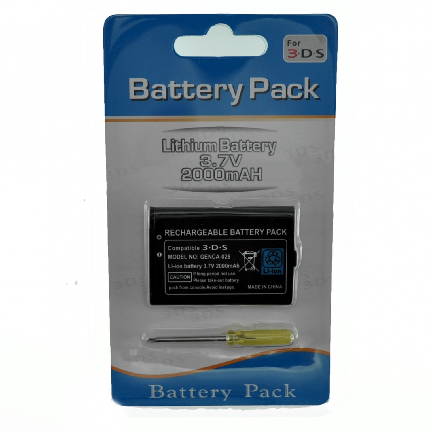 NINTENDO 3DS Rechargeable Li-ion Battery 3,7v 2000mah