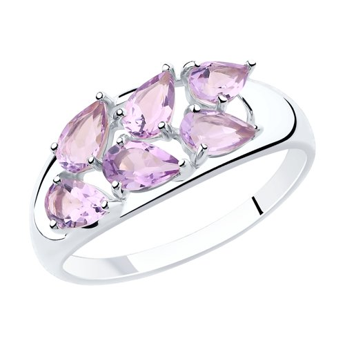 SOKOLOV Ring Of Silver With Amethyst