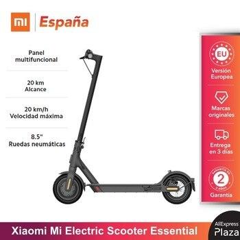 Original Xiaomi Mi Electric Scooter Essential (12kg Peso | 20 km Alcance | 20 km/h Velocidad máxima | E-ABS + discos de freno)