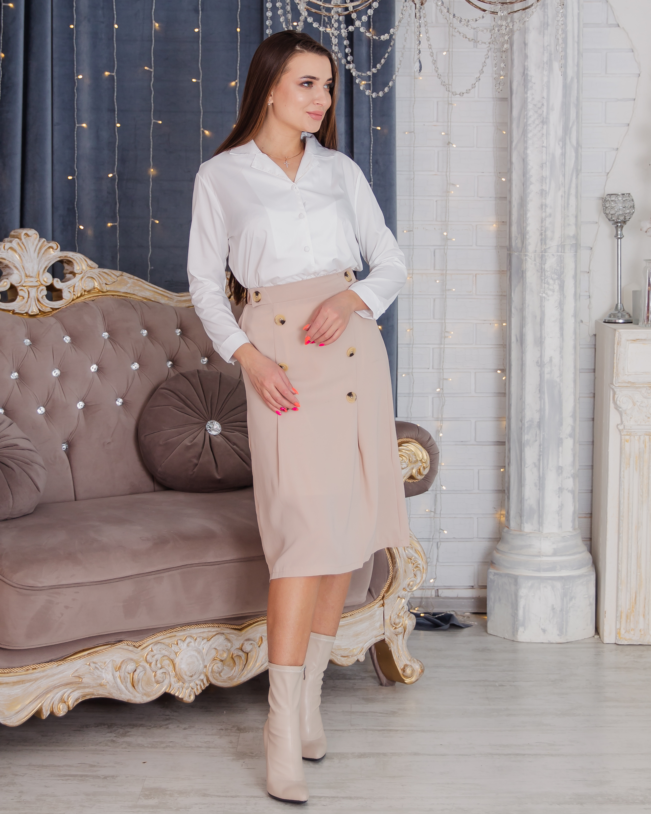 Beautiful Women's Skirt Beautiful Casual Evening Shipping From Russia Российское Production Emberens