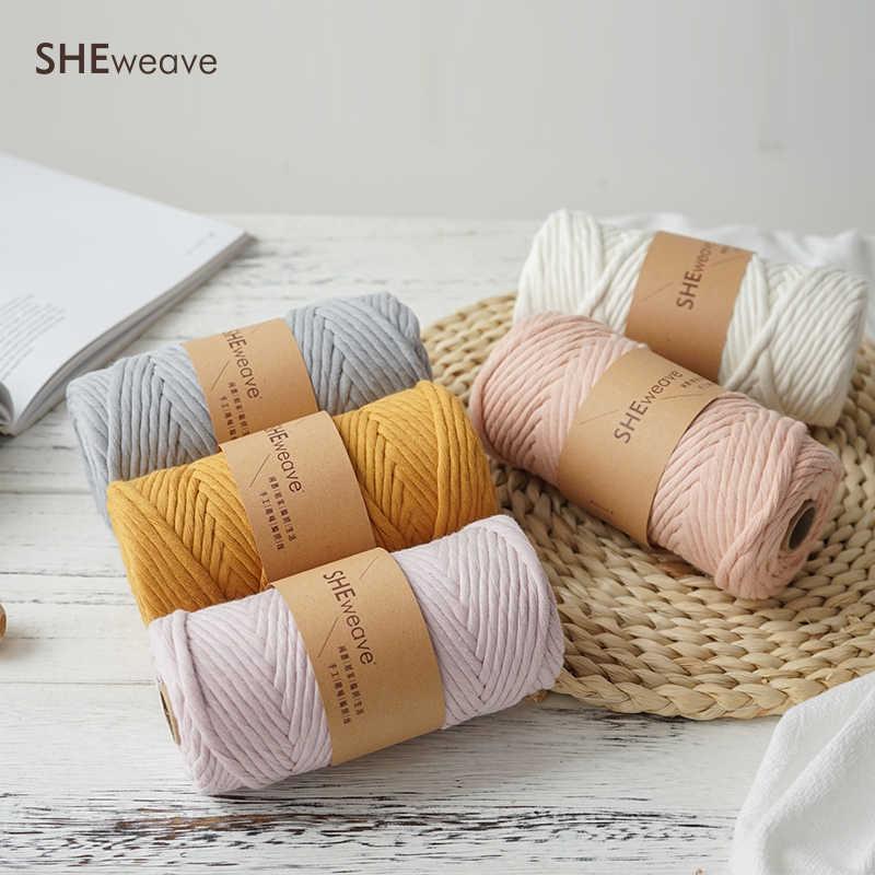 Einzelnen Strang Macrame Schnur, Macrame seil 4mm × 50m (54yd) bunte Baumwolle Schnur für Macrame liefert, Wand Hängen