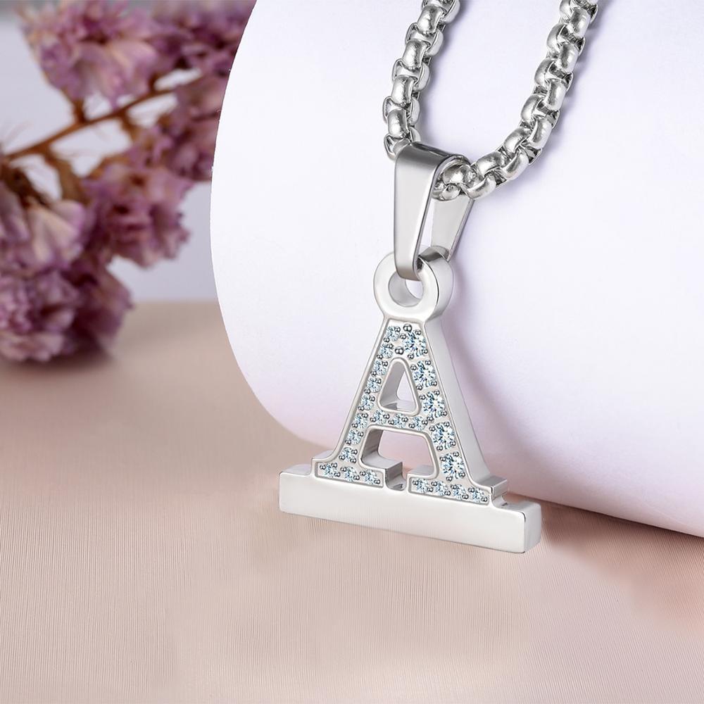 Купить кристалл алмаз алфавит буквы a z ожерелье кулон часы разъем
